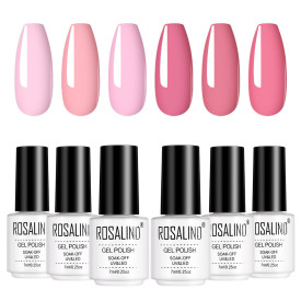 Copy Rosalind 7ML 6PCS Nude Pink Series Nail Gel Kits