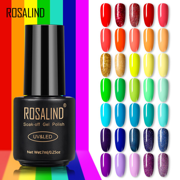 Rosalind Gel Nail Polish Kit- 35 Colors/Pack Pastel Summer Gel Colors