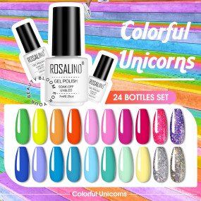 Rosalind 24 Pcs Gel Nail Polish Kit Holiday Gift