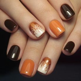 Rosalind 7ML Autumn Season Chrismas Pumpkin Glitter Nail Gel Kit