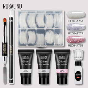 Rosalind 30ml Glitter Poly Extension Gel Nail Kit