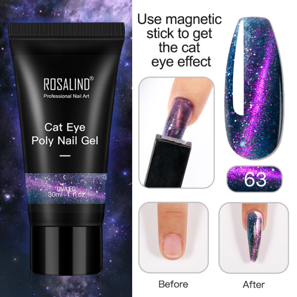 Rosalind 30ML Cat Eye Poly Nail Gel