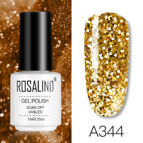 Rosalind 7ML Diamond Glitter Glod Champagne Gel Nail Polish