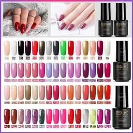 Rosalind Semi Permanent Gel Polish 60 Colors+Base&Top Coat Manicure Kit Gift