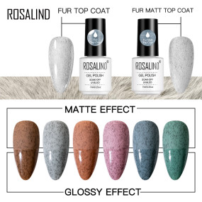 Rosalind 7ml Fur Glossy&Matt Top Coat Manicure Gel Polish