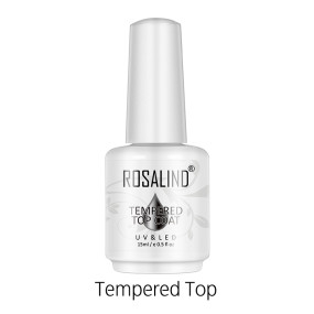 Rosalind 15ml No Wipe Tempered Top Coat Salon Home Use