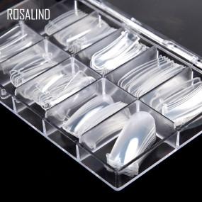 Rosalind Clear Stiletto Nail Tips for Acrylic Nail/Dip Powder Nails/Poly Nail Extension Gel Nail Art DIY Home