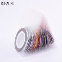 Rosalind 30Pcs/Lot Mixed Colors Rolls Striping Tape