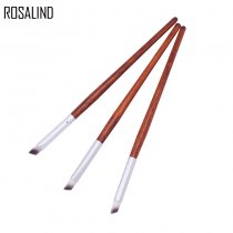 ROSALIND 3PCS Nail Pen Nail Art Brush Gradient Dizzy Dye Pen Wood Handle Angle Nail Painting Dotting Tools for Nail Salon