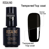 ROSALIND 7ML Rubber&Tempered&Reinforce Coat Top Base Coat For Gel Polish Primer