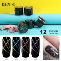 ROSALIND 5ML Metal Spider Gel Hybrid Varnishes Nail Art UV Gel Line Drawing Painting Gel Polish