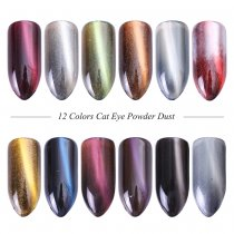 Cat eye powder Decoration 3D effect Nail Art Glitter