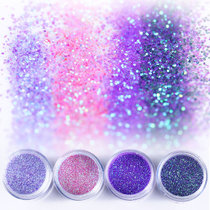 ROSALIND 10g 3D Nail Art Glitter Powder Nail Light Purple Pink Mixed Sequins Powder Shining Nail Art Decorations Manicure DIY Dust