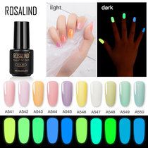ROSALIND 1pcs Glow In The Dark Gel Varnish UV Nail Gel Polish for Nails Fluorescent Luminous Colorful Neon Gel Lacquer