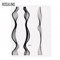 Rosalind 3D Nail Art Sticker Stripe Wave