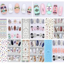 ROSALIND Flowers Nail Art Stickers Polish UV Gel Nail Stickers for Manicure Nail Tips 3D Decorations Water Decals Transfer Stickers