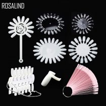 ROSALIND False Nail Tips Color Card Transparent White Buckle Ring Nail Art Practice Display Tools Manicure Nail Tool