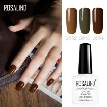 ROSALIND 10ML Coffee Autumn Series Color Nail Gel