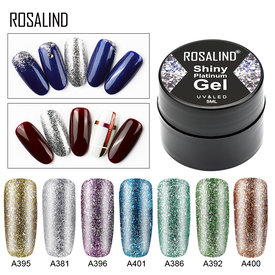ROSALIND Gel Nail Polish Set Shiny Platinum Nails Art For Manicure Poly Gel Lak UV Colors Top Base Coat Primer Hybrid Varnishes