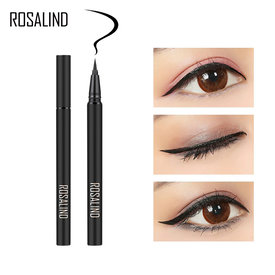 ROSALIND Eyeliner Stamp Makeup Black Waterproof Liquid Eyeliner Glitter For Eyes Long-lasting Cosmetics Shiny Pen Eye Liner