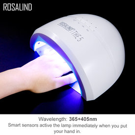 ROSALIND 24W 48W Nail Dryer UV LED Nail Lamp Gel Polish Curing Lamp with Bottom 30s/60s Timer LCD Display Lamp for Nail Dryer