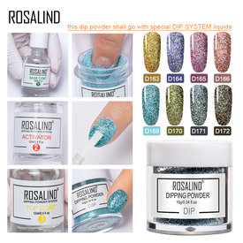 ROSALIND Holographic Dip Nail Powders Gradient Dipping Glitter Decoration Lasting than UV Gel Natural Dry Without Lamp Cure