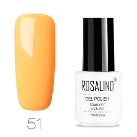 Summer Color Orange Yellow Pure Color UV Gel