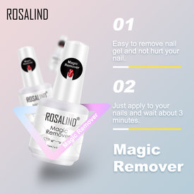 ROSALIND 15ML Nail Gel Magic Remover Healthy Fast Within 3 MINS