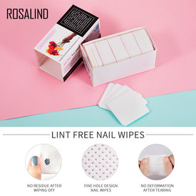 250Pcs/Lot Lint-Free Nail Wipes Napkins Nail Art Nail Remover Wipes For Gel Polish Remove Pure Cotton Nails Pads Paper