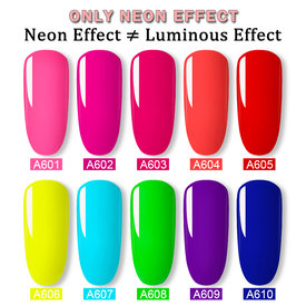 Rosalind Neon Nail Gel Summer Color UV Gel Varnish Nails Art Lacquer 7ml