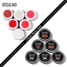 ROSALIND Nail Art 15ml Poly Gel for Nail UV LED gel lacquer Semi Permanent Finger Gel For Extension Crystal Nail Polish