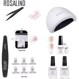 ROSALIND Nail Art Kit Manicure Set 12 Colors Nail Glitter Powder Decoration Acrylic Pen Brush Nail Art Tool Kit For Beginners