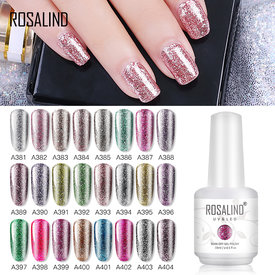 ROSALIND 15ML Gel Polish Starry Super Platinum Glitter Shinny