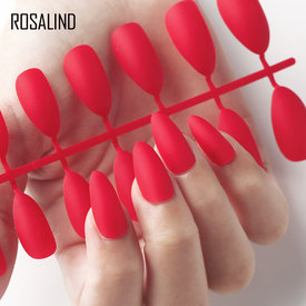 Rosalind Extra Long fake nails False Nails Pre-designed Curved Press On Nails including glue sticker