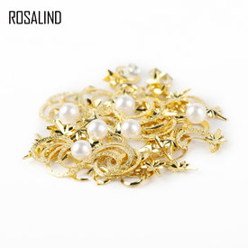 ROSALIND DIY Nail Art Wheel Tips Crystal Glitter Rhinestone 3D Nail Art Decoration white AB Color Acrylic Diamond Drill
