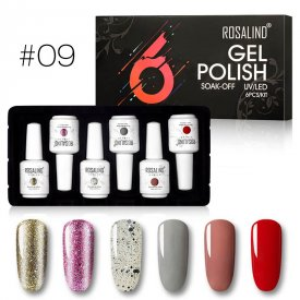 Rosalind 15ml 6pcs Gel Nail Set