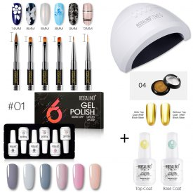 Rosalind 15ML 6PCS Winter Gel Polish Set Kit