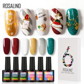 Rosalind Winter Christmas Nail Set 6pcs*10ml