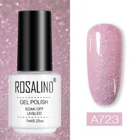 ROSALIND 7ML Holo Shiny Glitter Neon UV  Gel Nail Polish
