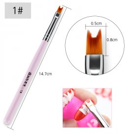 Rosalind 1Pcs 8 Pattern Nail Art Painting Brushes