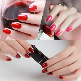 Cherry Color Nail Gel
