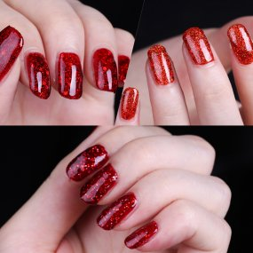 Rosalind 7ml Red Diamond Glitter Nail Gel