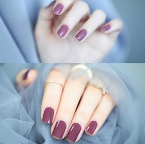 Violet Color Nail Ge