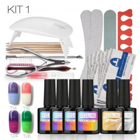 Temperature Changing&Rainbow &Cat eyesTools Manicure Set UV Gel Kit