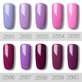 Gel Nail Polish  5 PACK,7ml(Purple)