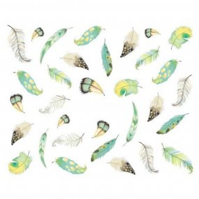 1Bag Colorful Feather Nail Art Decal Stickers New Women Girl Watermark Nail Art