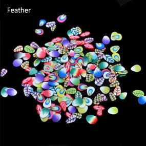 1000pcs/pack Nail Art 3D Fruit feather MIX- DIY Slice Decoration Nail Sticker Mixed Stype for Choice