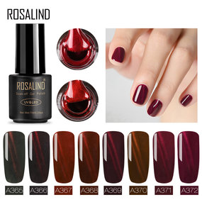 ROSALIND 7ml Red Line Cat Eye Series  Soak Off Nail Gel Polish Gel Lacquer