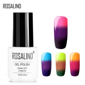 ROSALIND 3 Colors Temperature Color Changing Gel Nail Polish