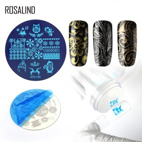 ROSALIND Nail Art Stamp Plate Stamping Tools Stainless Steel Nail Template 20 Styles